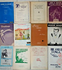 Lot of 14 Vintage Early Mid Century Piano Violin Americana Sheet Music Booklets