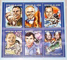 GUINEA 2001 Klb 3178-83 MS 1937 Space Pioneers Raumfahrt Astronauts Gagarin MNH
