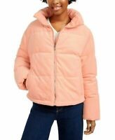 Collection B Cropped Corduroy Puffer Coat Juniors Small Blush Pink $119