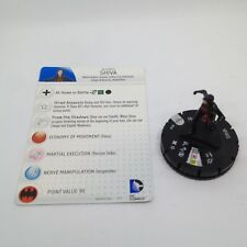 Heroclix Batman: Arkham Origins set Shiva #018 Rare figure w/card!