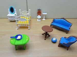 Vintage Mattel The Littles Dollhouse Metal Furniture  Made In Hong Kong 1980