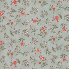 Quill 3 Sisters Floral Blossoms Aqua 44154 14 Blue Moda Quilting Cotton Fabric