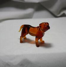 Art Blown Glass Murano Figurine Glass Dog Dogue de Bordeaux