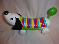 "Leapfrog Alphabet Puppy Dog Learning Toy Educational Pull Along 14"" Xylophone"