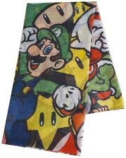 Super Mario Characters Fashion Scarf | Official Gaming Merchandise (New)
