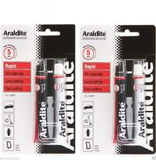 2 X ARALDITE RAPID SUPER STRONG ADHESIVE GLUE 2 PART EPOXY RED QUICK SETTING
