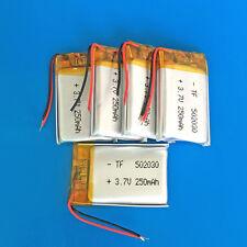 5 pcs 250mAh 3.7V Li Po Battery Cells For MP3 MP4 Smart Watch Bluetooth 502030