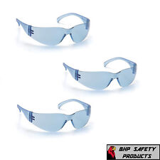 SAFETY GLASSES INFINITY BLUE LENS SPORT EYEWEAR PYRAMEX INTRUDER S4160S (3 PAIR)