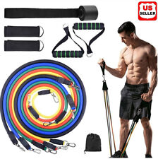 11 PC Resistance Bands Set Pull Rope Gym Home Fitness Workout Crossfit YogaTube