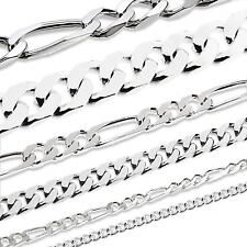 MASSIV 925 Sterling Silber Kette PANZERKETTE BIKER Armband Armkette 18-23cm NEU