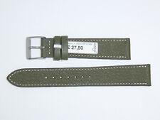 "FLUCO Genuine Vintage Leather Watch Band Strap 18 mm Green ""Montana-Ziege"""