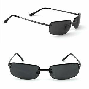 Herren Sonnenbrille Rechteckig schmal Agent Smith Schwarz Rennec M5