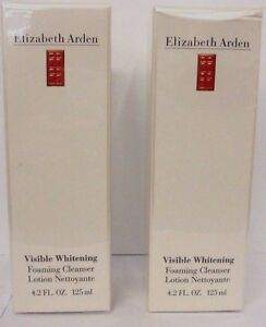 Lot of 2 Elizabeth Arden Visible Whitening Foaming Cleanser 4.2 oz ea NEW