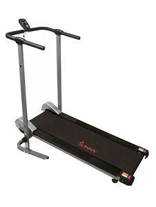 Fitness Sunny Health And Manual Compact Walking Treadmill Sf T1407m Lcd Mon Moni