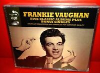 4 CD FRANKIE VAUGHAN - 5 CLASSIC ALBUMS PLUS - NUOVO NEW