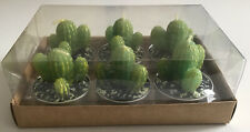 Brand New In Box 6pcs Cactus Candle Tea Lights