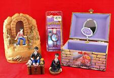 Vtg 2001 Harry Potter Lot ~ Music Box Gringotts Bank Trinket Box Watch ~ Rare!
