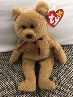 RARE RETIRED TY BEANIE BABY 'CURLY' THE BEAR WITH MANY ERRORS NEW CONDITION