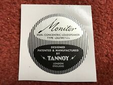 """One round TANNOY 12"""" Red LSU/HF/12.L rear magnet label, no cutting needed"""