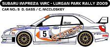 DECALS 1/43 SUBARU IMPREZA WRC - #5 - GASS - RALLYE LURGAN PARK 2009 - D43198