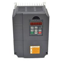 Neu 7,5KW VFD 220V 10HP Frequenzumrichter Variable Frequency Drive Inverter