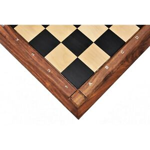 """21"""" Solid Ebony & Maple Wood Chess board-55 mm square-Matt Finish-With Notations"""