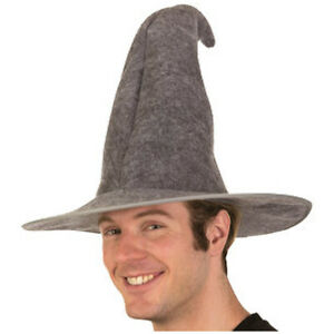 Gandalf Wizard Hat Adult Lord Of The Rings Hobbit Costume Gray Gift LOTR Cosplay