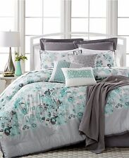 Sunham Cascavel 10 (5) Piece Comforter Set KING Bedding Aqua Msrp $360 B2324
