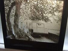 OLD MAGIC LANTERN, Old Caravan & Car, Birmingham No Plate ON7412, good detail