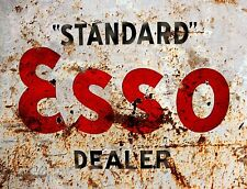 """TIN SIGN """"Esso Rust""""   Gas-Oil   Signs  Rustic Wall Decor"""