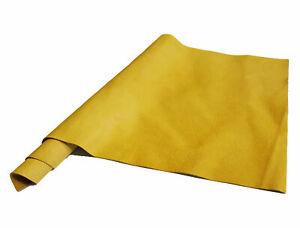 "Pre-Cut Gold Deer Tan Cow Leather Project Piece 12"" x 24"" 3oz 1.2mm"