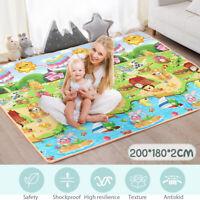 200*180*2CM Baby Kids Floor Play Mat Rug Picnic Cushion Crawling Mat