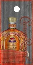 SINGLE Crown Royal Peach Cornhole Board Wrap Vinyl Laminate Custom Liquour Drink