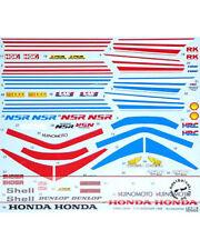 1/12 HONDA NSR250R RED & BLUE ACCESSORY DECAL for AOSHIMA