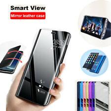 Pour Samsung Galaxy NOTE 10 9 8 5 4 3 Miroir étui cuir intelligent Folio coque