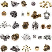 10PCs Buddha Head Lion Owl Fox Head Alloy Beads Fit Animal DIY Bracelets Gasket