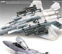 Academy 12264 1/48th F-15E STRIKE EAGLE with Weapon Aircraft Plastic Toy iaj