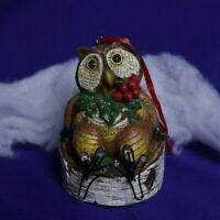 Humorous wood looking Owl Ornament