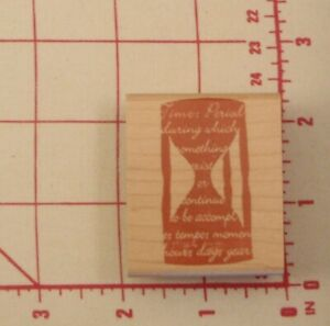 """Hampton Art Diffusion Hour Glass/Time Rubber Stamp 2"""""""