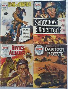 "4 Early Battle Picture Library War Comics ""Sentence Deferred"" Fleetway 1964"