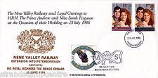 1986 Wedding - Nene Valley Railway Cover - Peterborough FDI