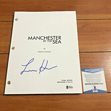 LUCAS HEDGES SIGNED MANCHESTER BY THE SEA FULL PAGE MOVIE SCRIPT BECKETT COA