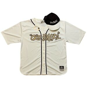 Old Skool Clothing Company Baseball Jersey and Hat Cream White Mens Size Large