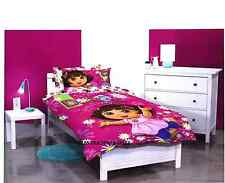SINGLE BED DORA THE EXPLORER GILRS LICENSED QUILT DOONA COVER SET + PILLOWCASE