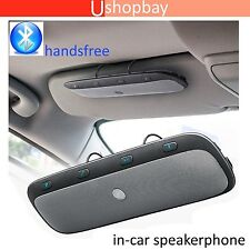 Bluetooth Wireless Multipoint Speaker Visor Clip Hands free Car Android iPhone