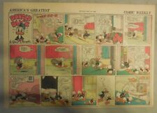 Donald Duck Sunday Page by Walt Disney from 5/241942 Half Page Size