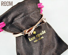 Kate Spade New York Love Notes Large Bow Rose gold Bangle Bracelet