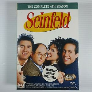 SEINFELD The Complete 4th Season 2007 AUS (Region 4) 4 Discs BRAND NEW & SEALED