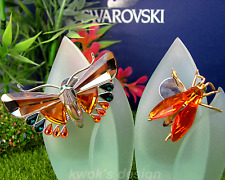 Swarovski Crystal Paradise Insect  & Butterfly Objects/Brooches with Boxes/Coas