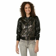 Bongo Juniors Bomber Jacket Army Camo Lined zip front size M L NEW